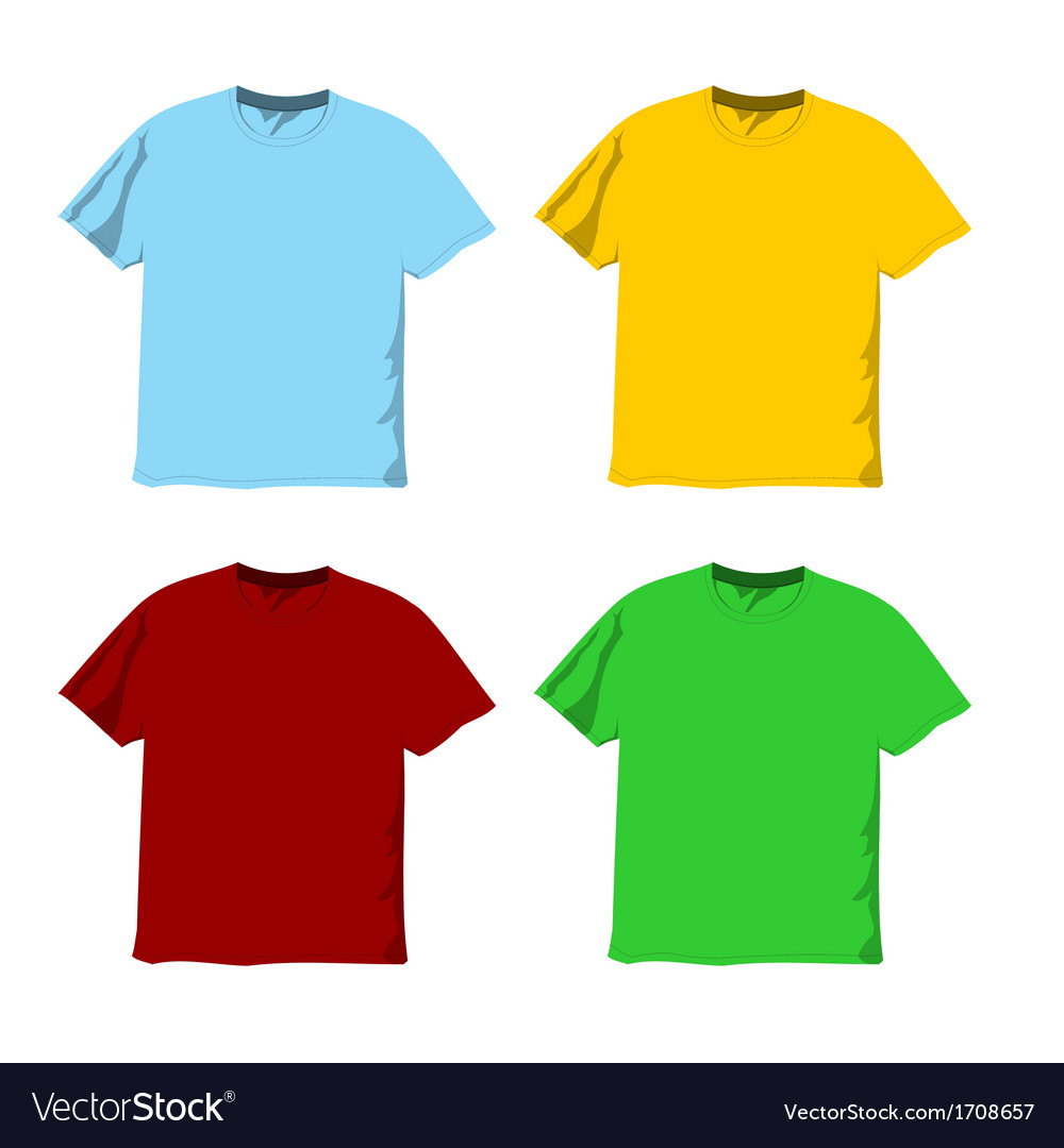 Colorful blank t-shirts vector | Price: 1 Credit (USD $1)