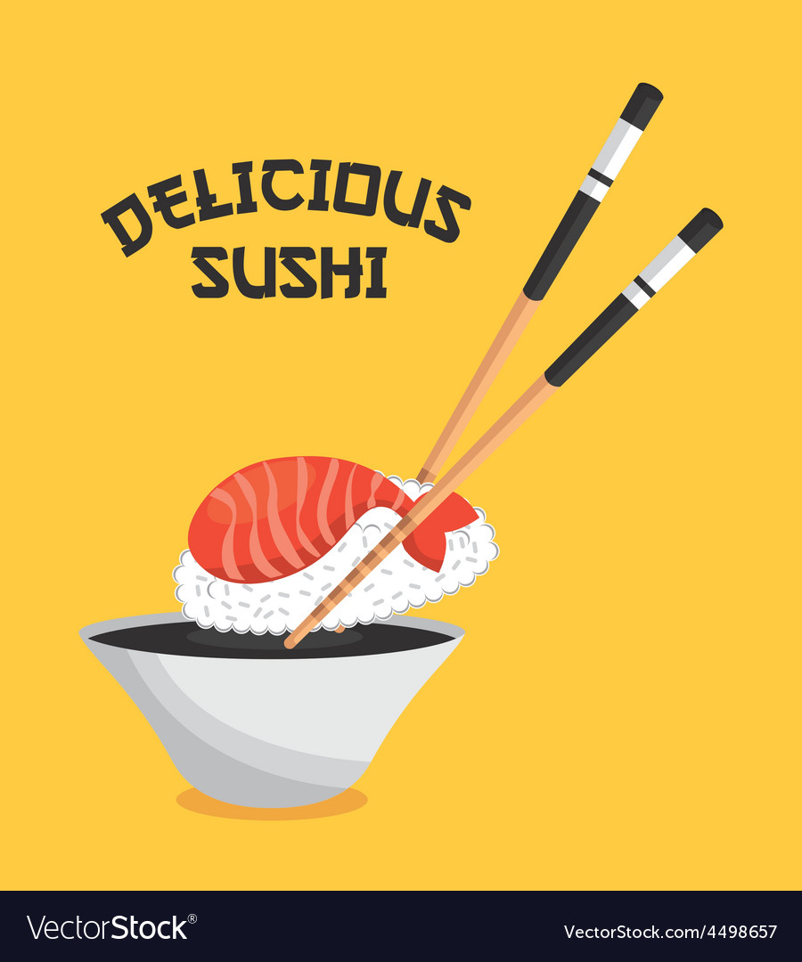 Delicious sushi vector | Price: 1 Credit (USD $1)