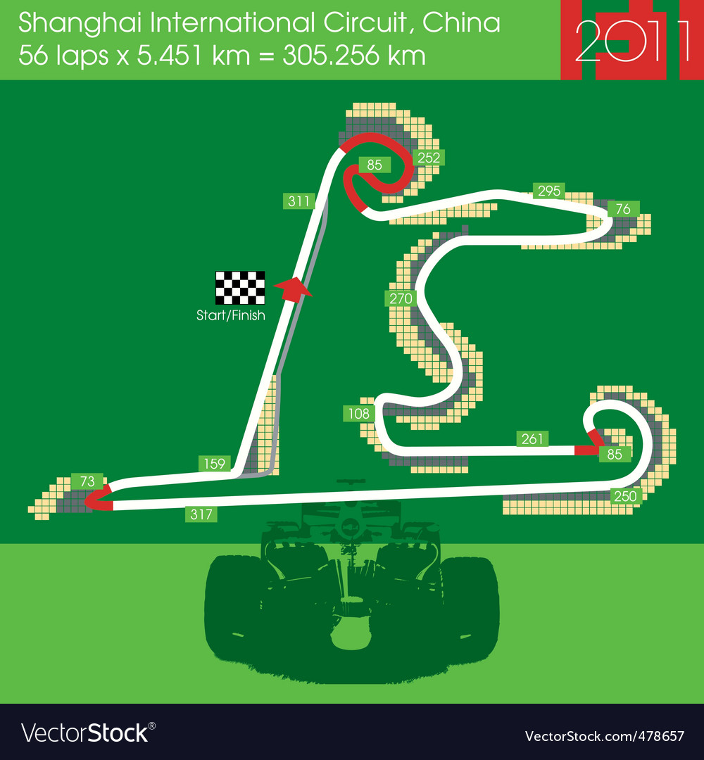 F1 china circuit 2011 vector | Price: 1 Credit (USD $1)