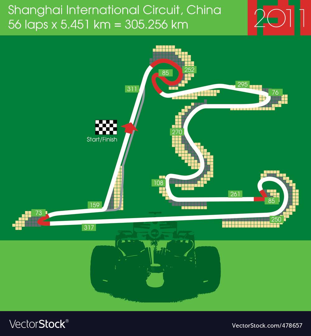 F1 china circuit 2011 vector   Price: 1 Credit (USD $1)