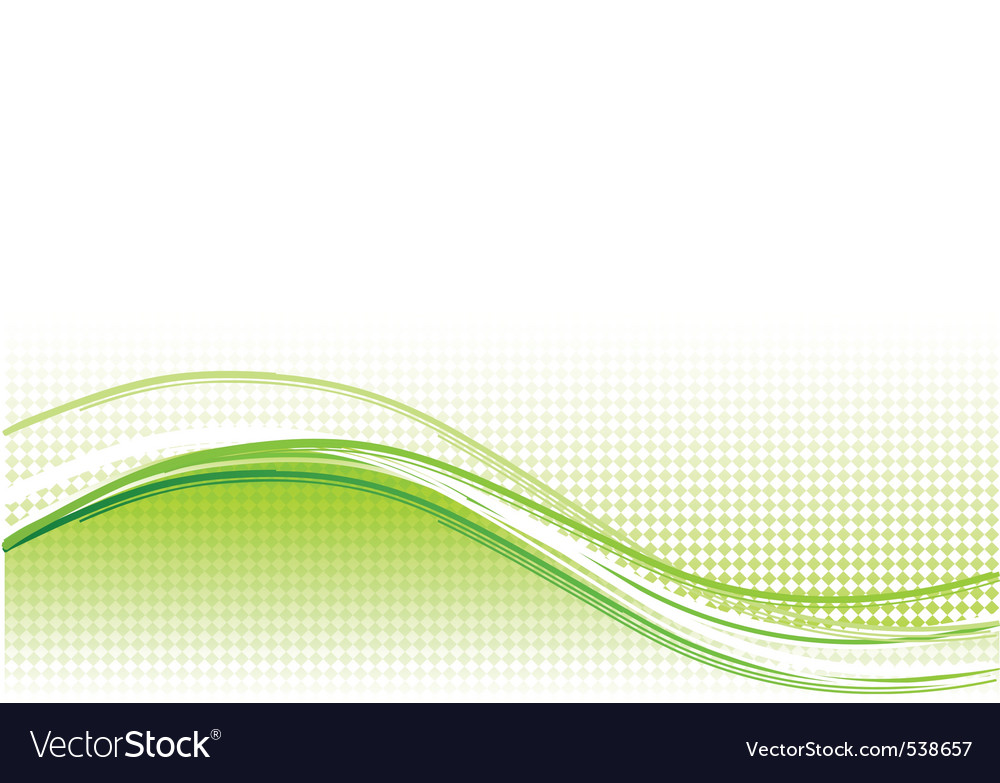 Green wave background with lines vector | Price: 1 Credit (USD $1)