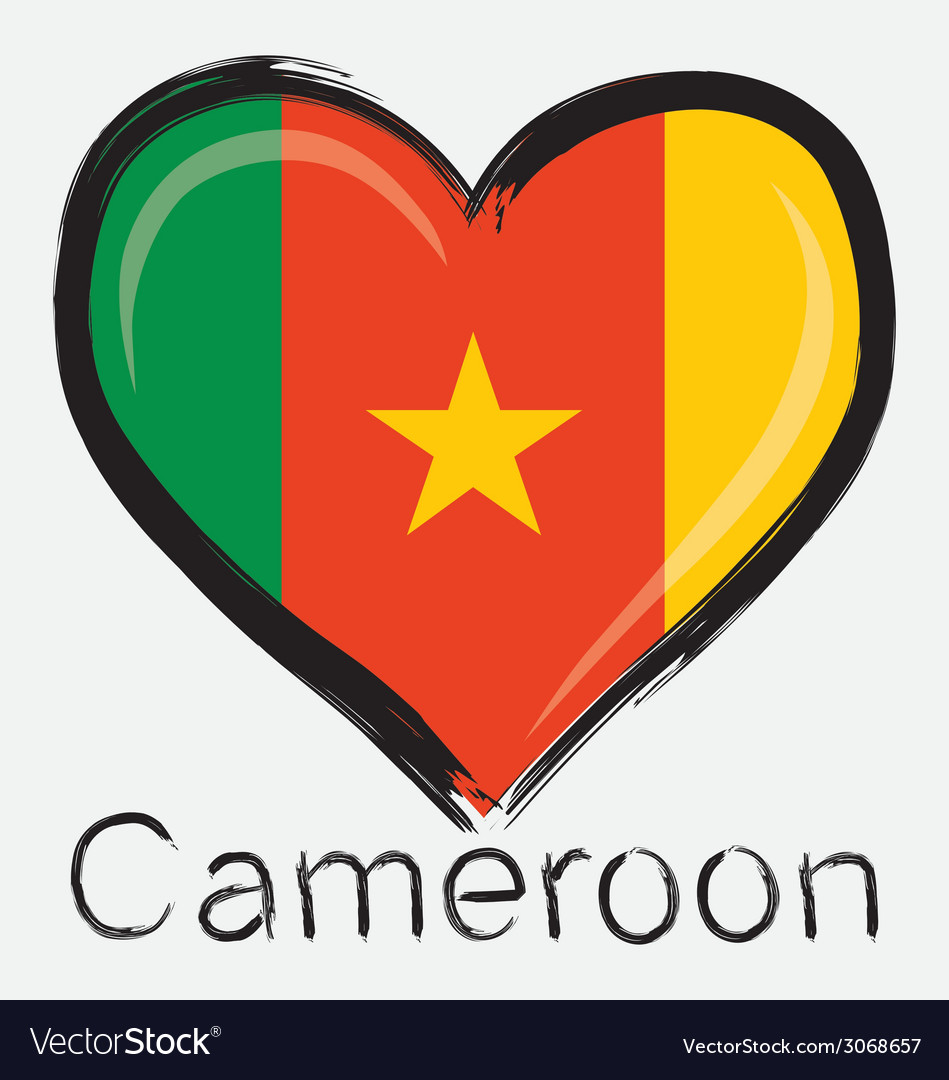 Love cameroon flag vector | Price: 1 Credit (USD $1)