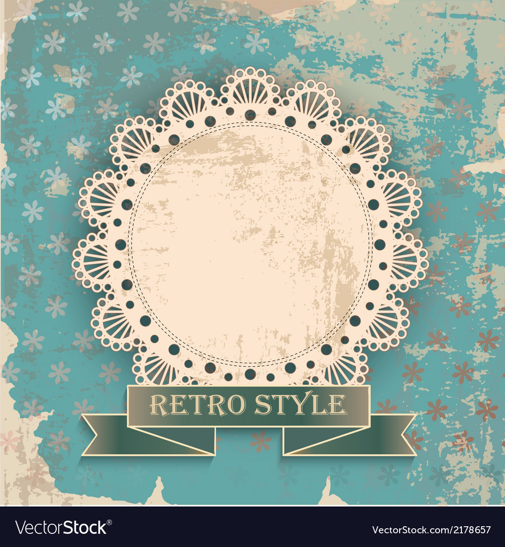 Retro background with napkin vector | Price: 1 Credit (USD $1)