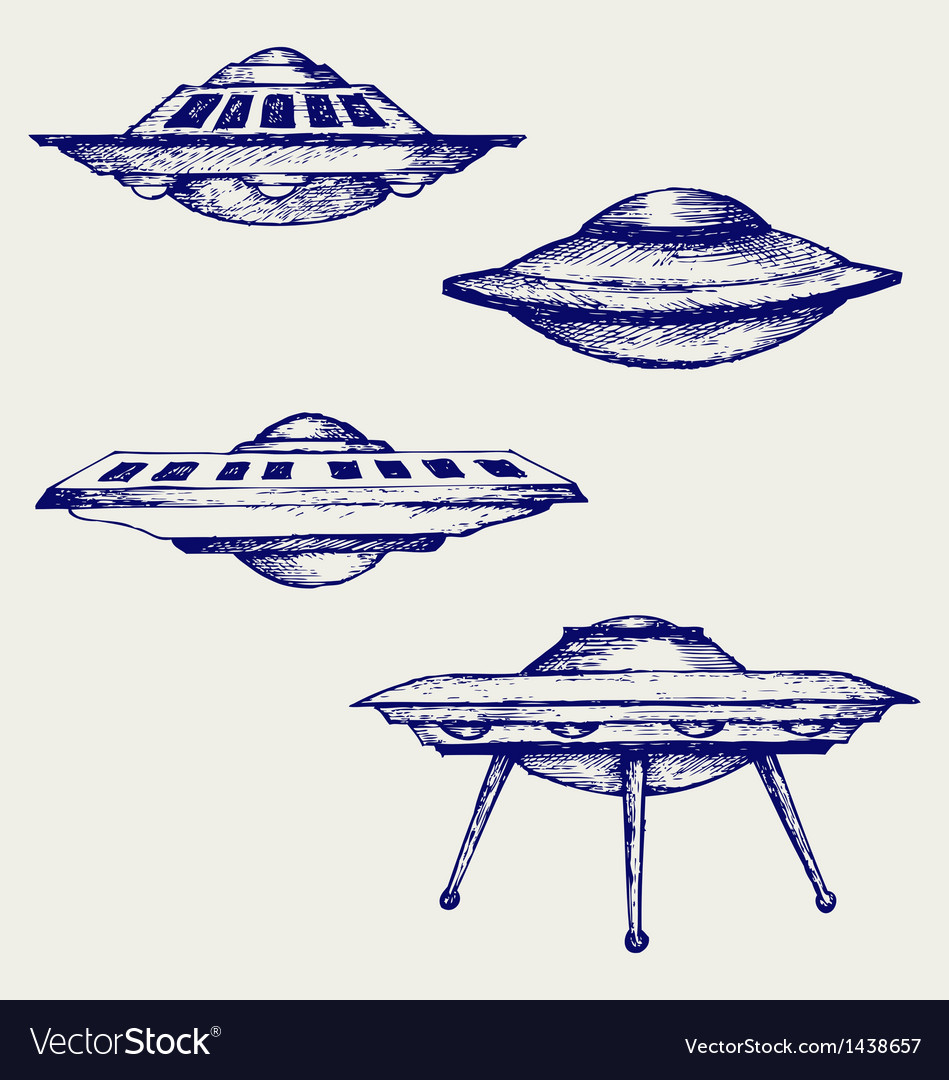 Space flying saucer vector | Price: 1 Credit (USD $1)