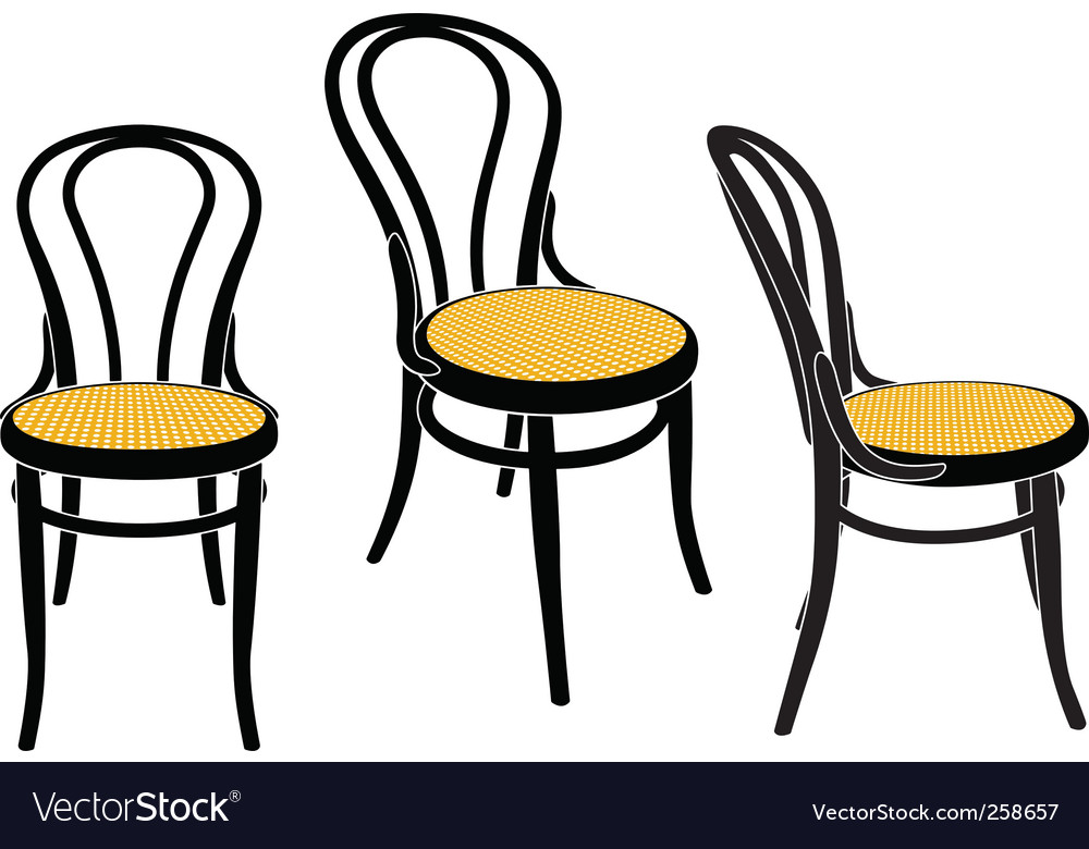 Vienna caf chair vector | Price: 1 Credit (USD $1)