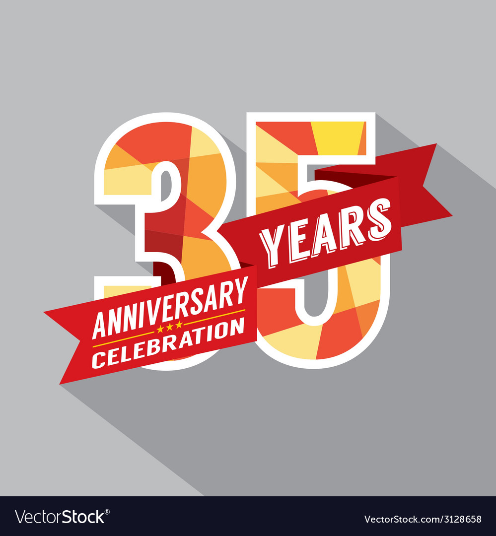 35th years anniversary celebration design vector | Price: 1 Credit (USD $1)