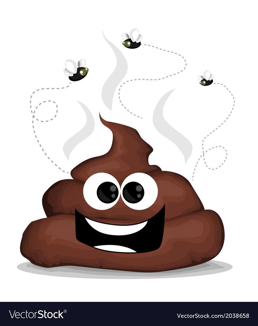 Cartoon poop vector | Price: 1 Credit (USD $1)