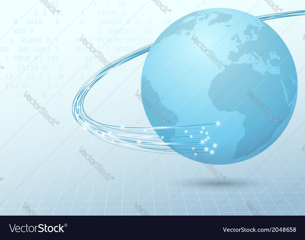 Earth broadband cable connection background vector | Price: 1 Credit (USD $1)