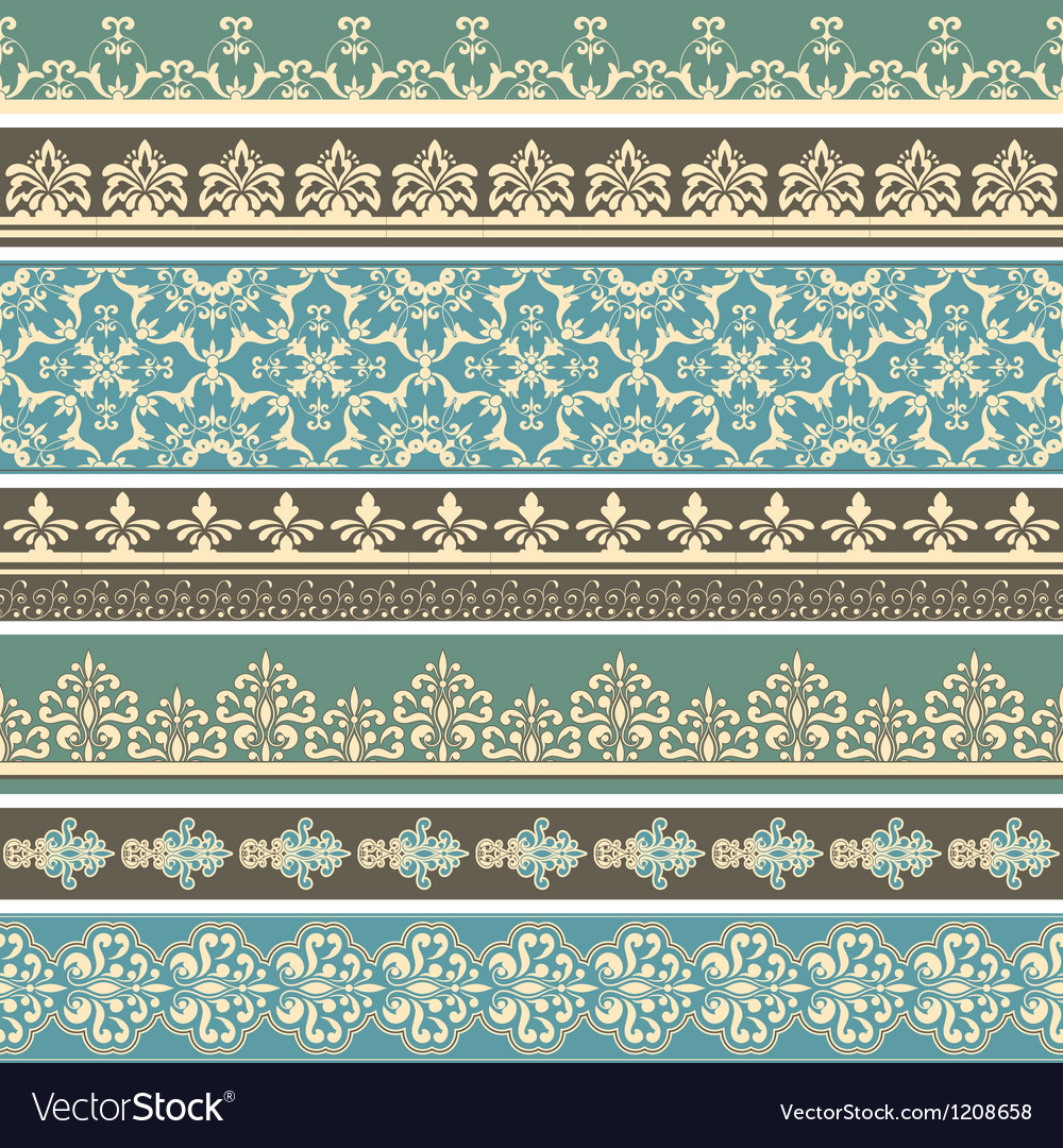 Floral retro borders vector | Price: 3 Credit (USD $3)