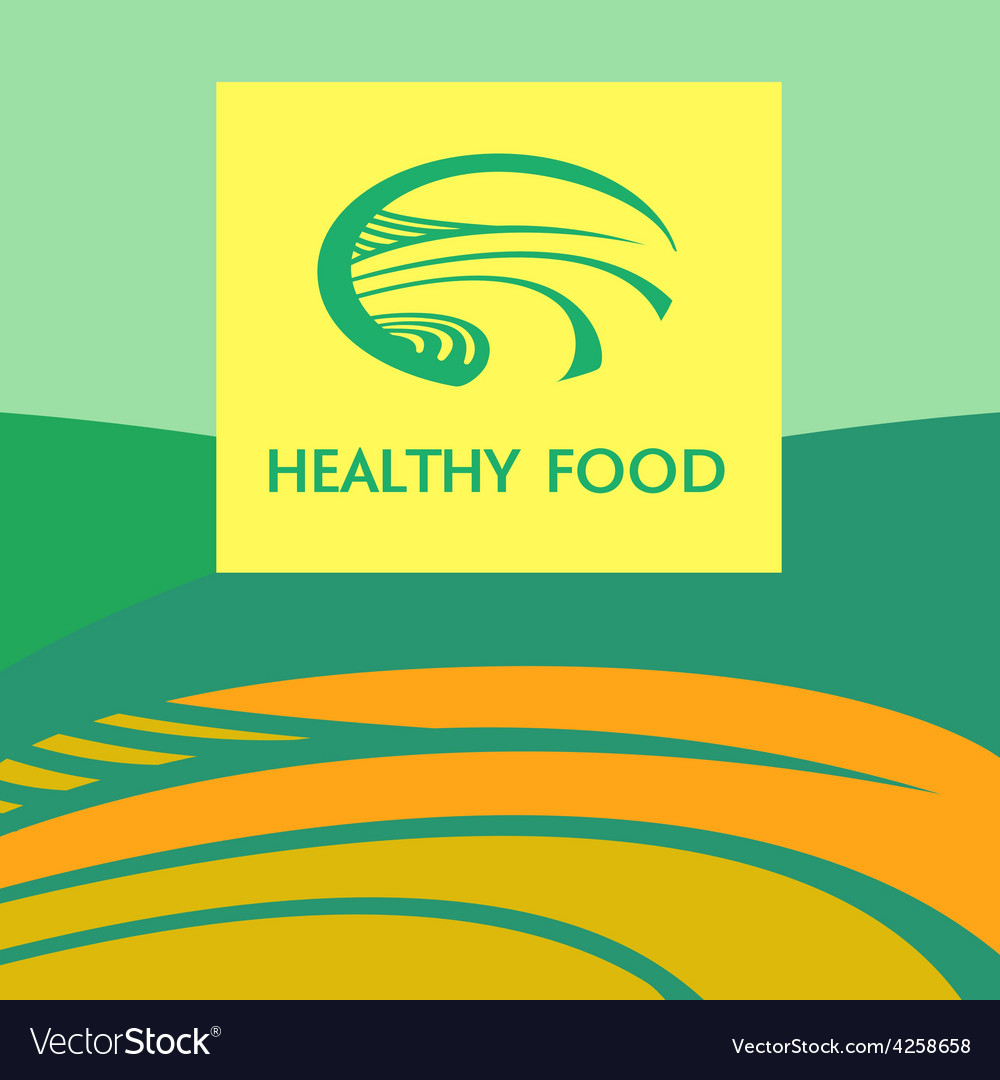 Healthy food logo vector | Price: 1 Credit (USD $1)