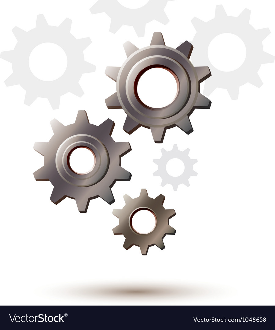 Machine gear wheel cogwheel icon vector | Price: 1 Credit (USD $1)