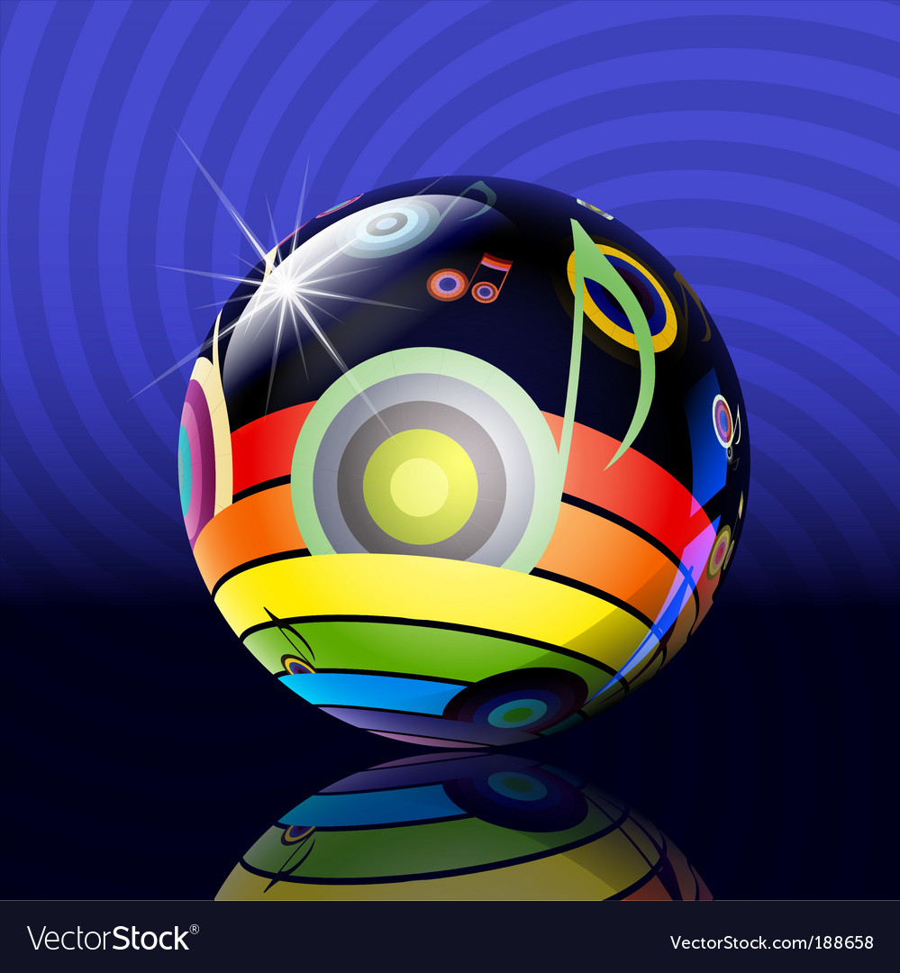 Musical ball vector | Price: 1 Credit (USD $1)