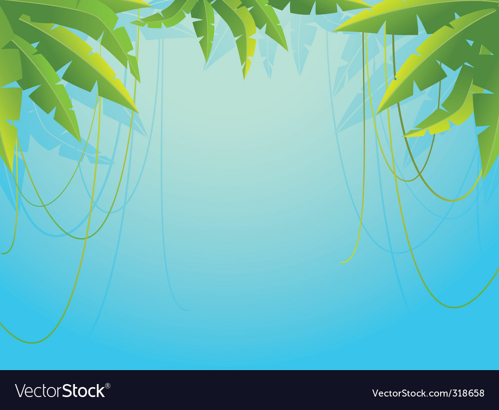 Palm tree border vector | Price: 1 Credit (USD $1)
