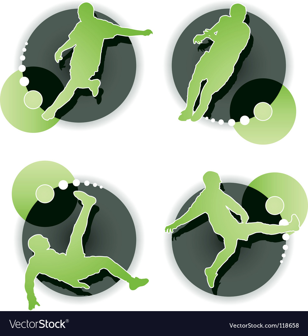 Soccer player set isolated vector | Price: 1 Credit (USD $1)