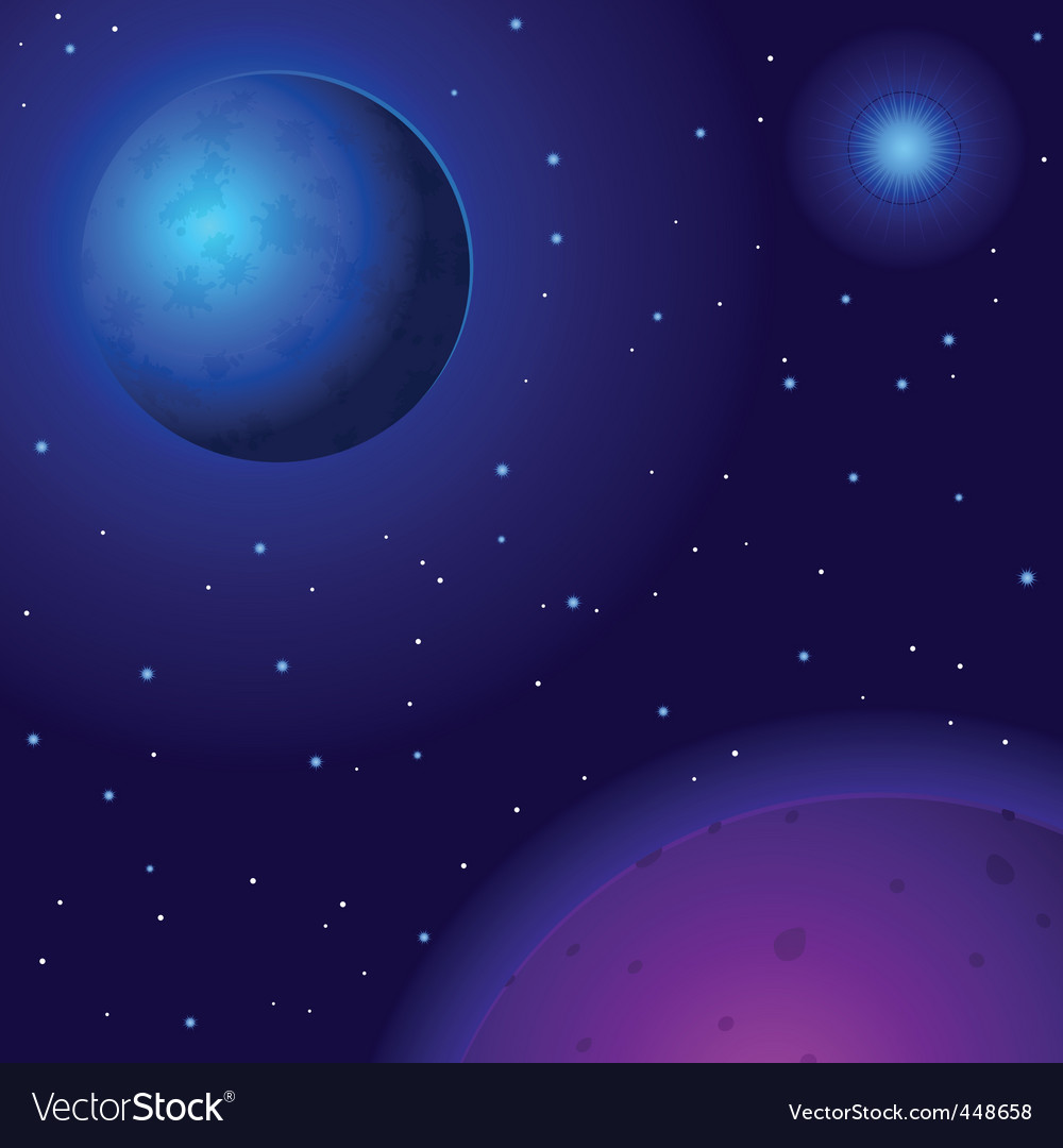 Space planets and stars vector | Price: 1 Credit (USD $1)
