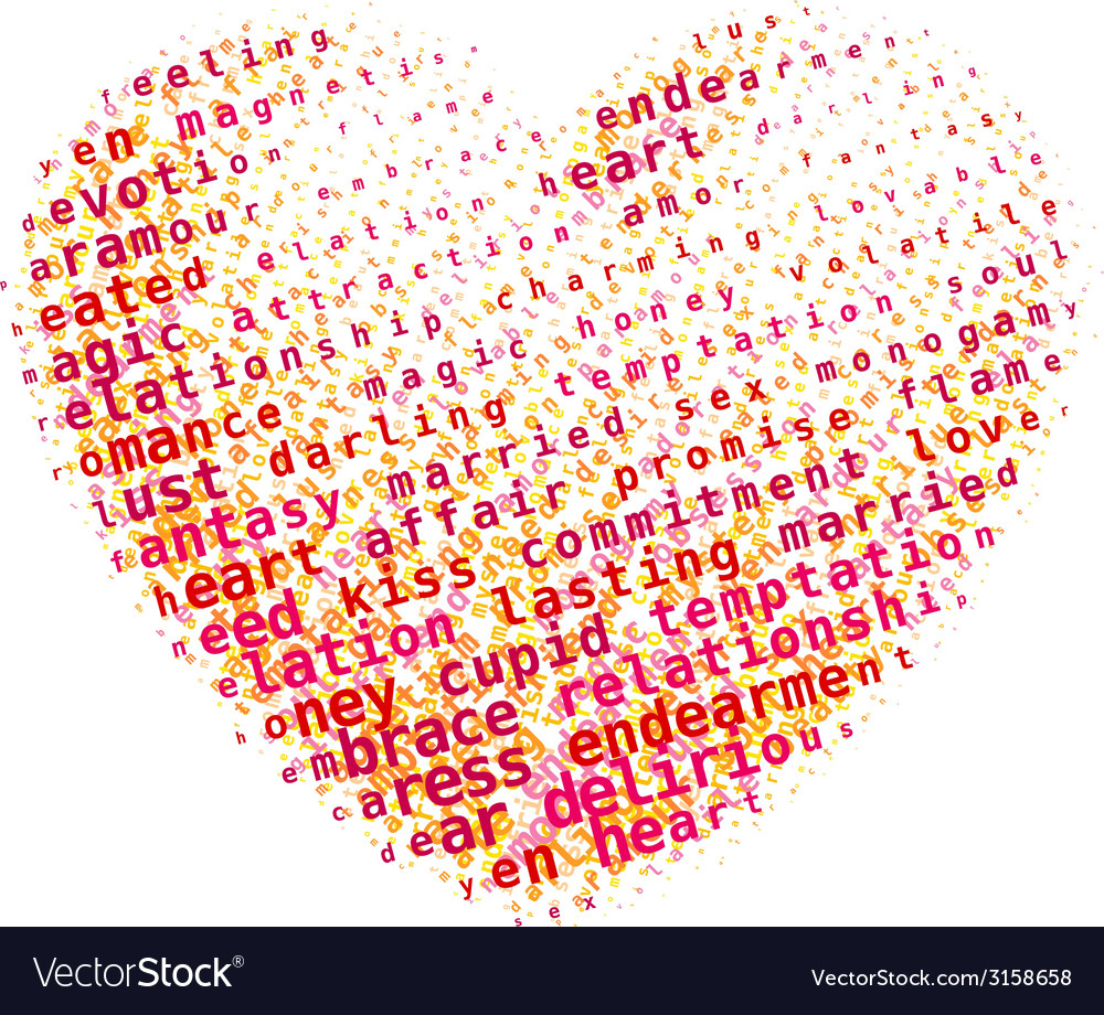 Word cloud heart vector | Price: 1 Credit (USD $1)
