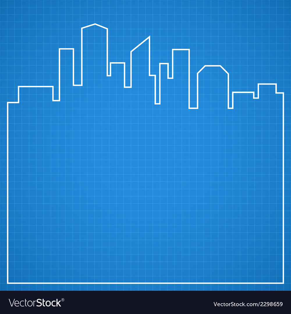 Abstract city background blueprint vector | Price: 1 Credit (USD $1)