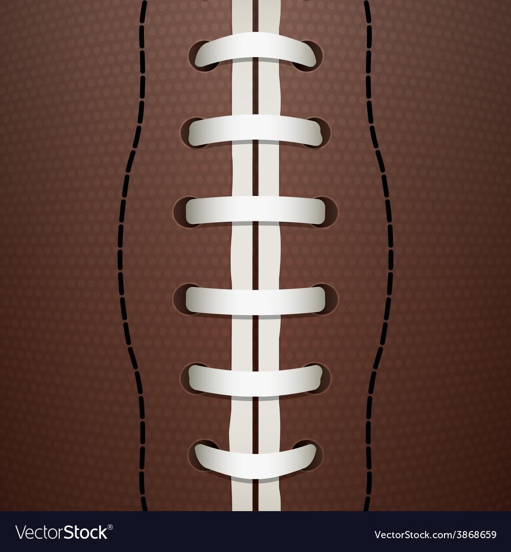 American football closeup vector | Price: 1 Credit (USD $1)