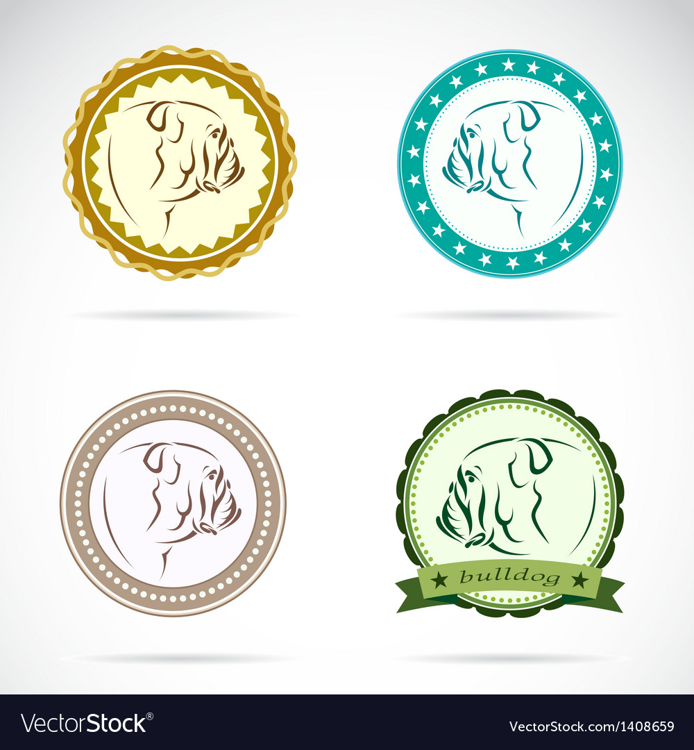 Bulldog labels vector | Price: 3 Credit (USD $3)