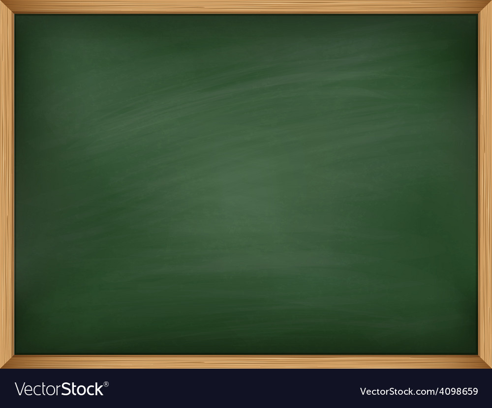 Empty green chalkboard with wooden frame template vector | Price: 1 Credit (USD $1)