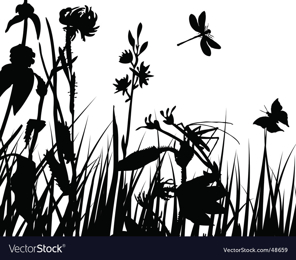 Meadow background vector | Price: 1 Credit (USD $1)