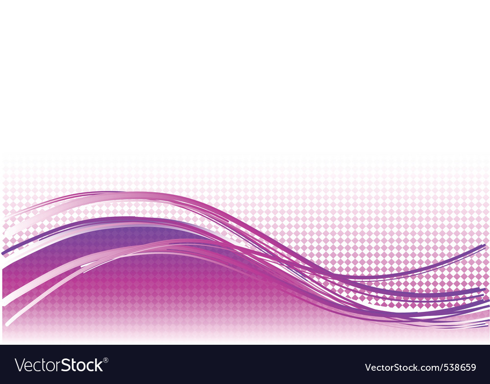 Purple wave background with lines vector | Price: 1 Credit (USD $1)