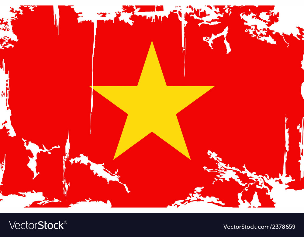 Vietnam grunge flag vector | Price: 1 Credit (USD $1)
