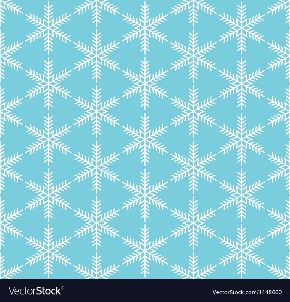 Blue seamless snowflake pattern vector | Price: 1 Credit (USD $1)