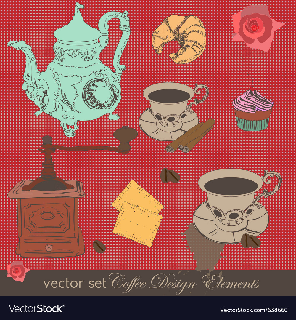 Coffee design elements vector | Price: 1 Credit (USD $1)