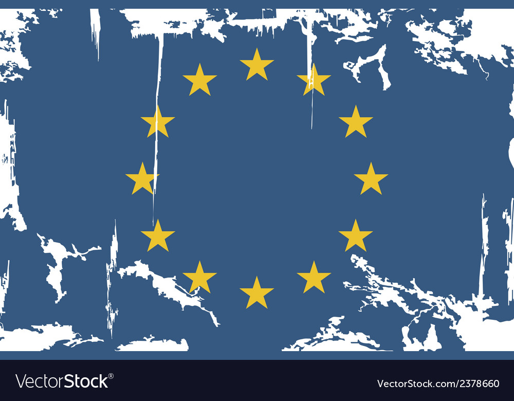 European union grunge flag vector | Price: 1 Credit (USD $1)