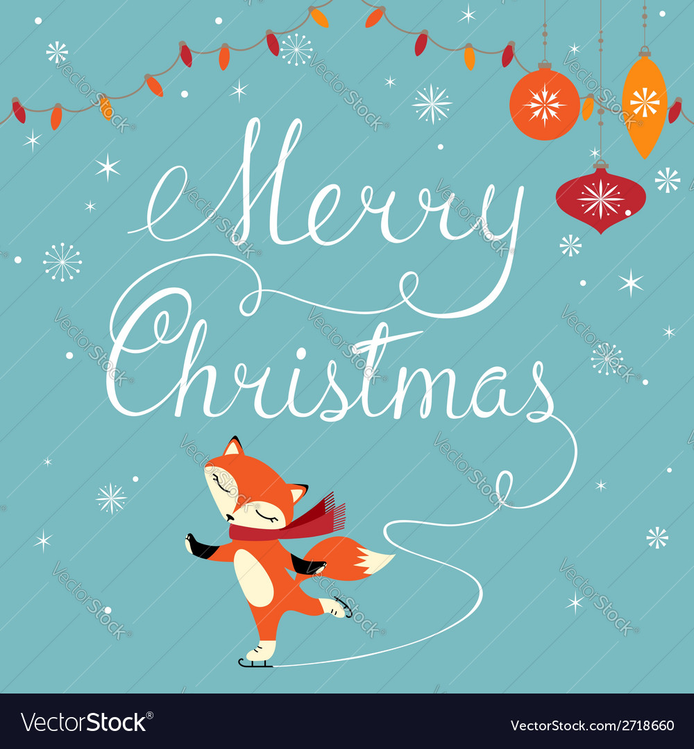 Foxy greeting vector | Price: 1 Credit (USD $1)