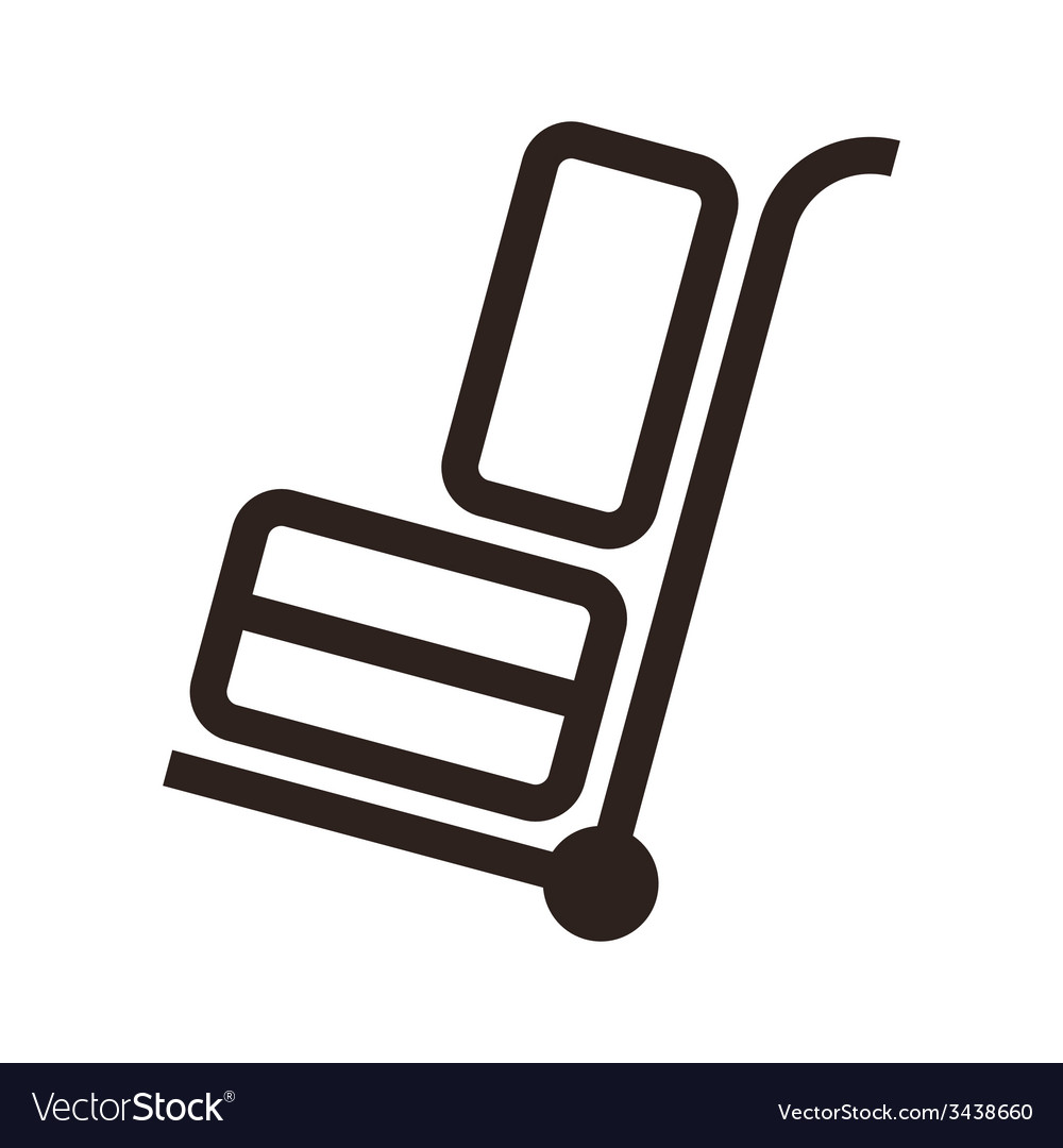 Hand cart with luggage vector | Price: 1 Credit (USD $1)