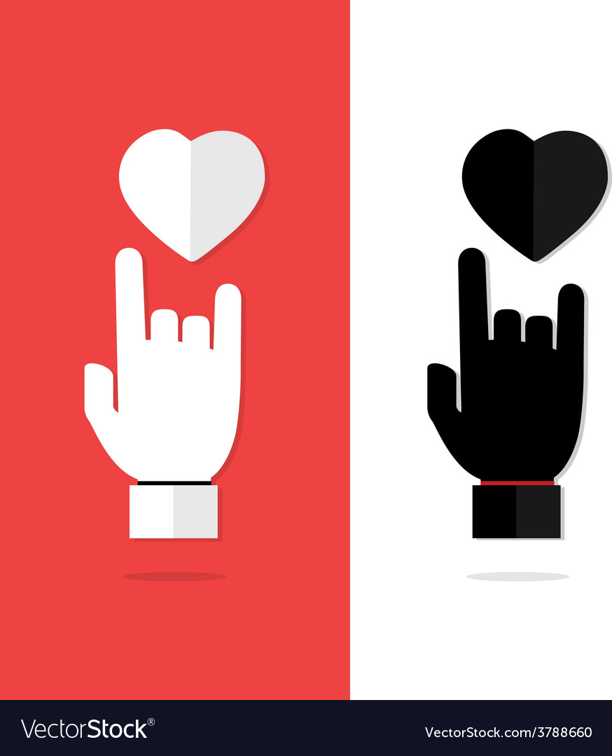 I love you language hand sign icon vector | Price: 1 Credit (USD $1)