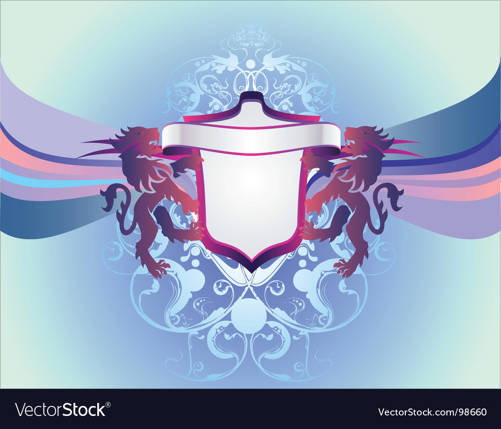 Modern heraldry vector | Price: 1 Credit (USD $1)