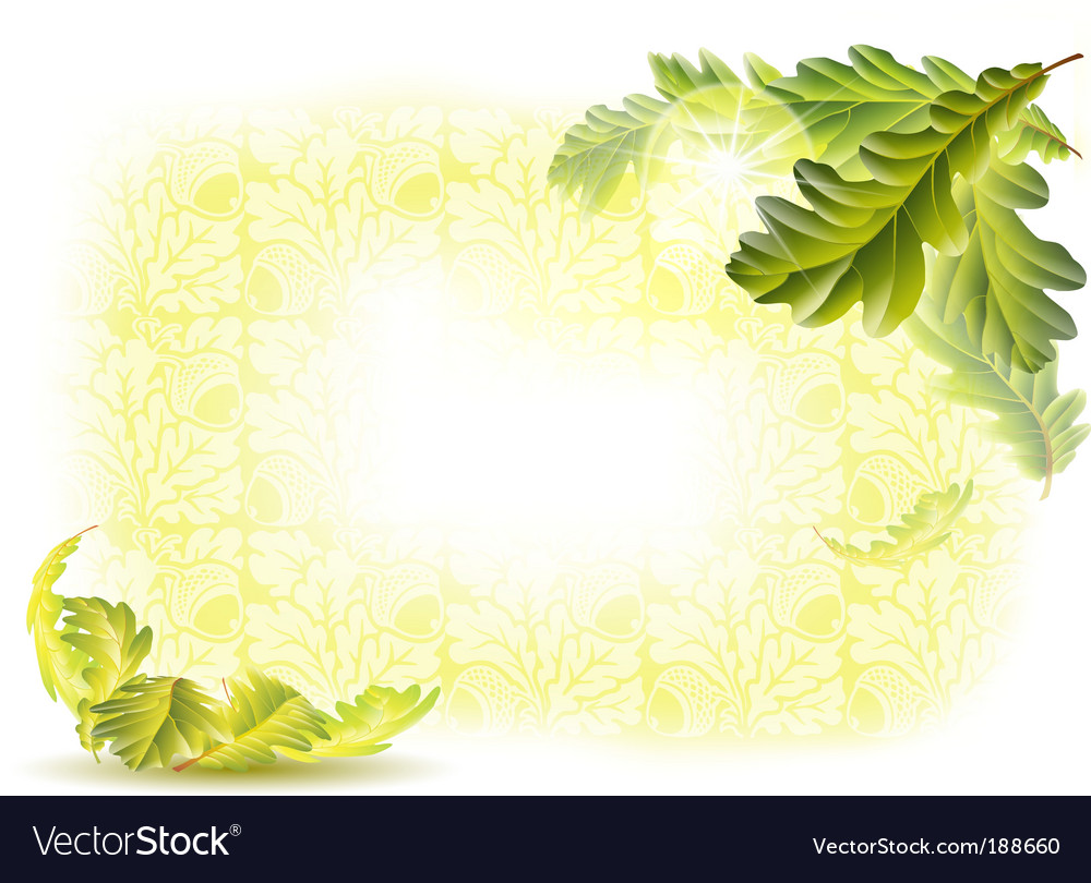 Oak leaves background vector | Price: 1 Credit (USD $1)