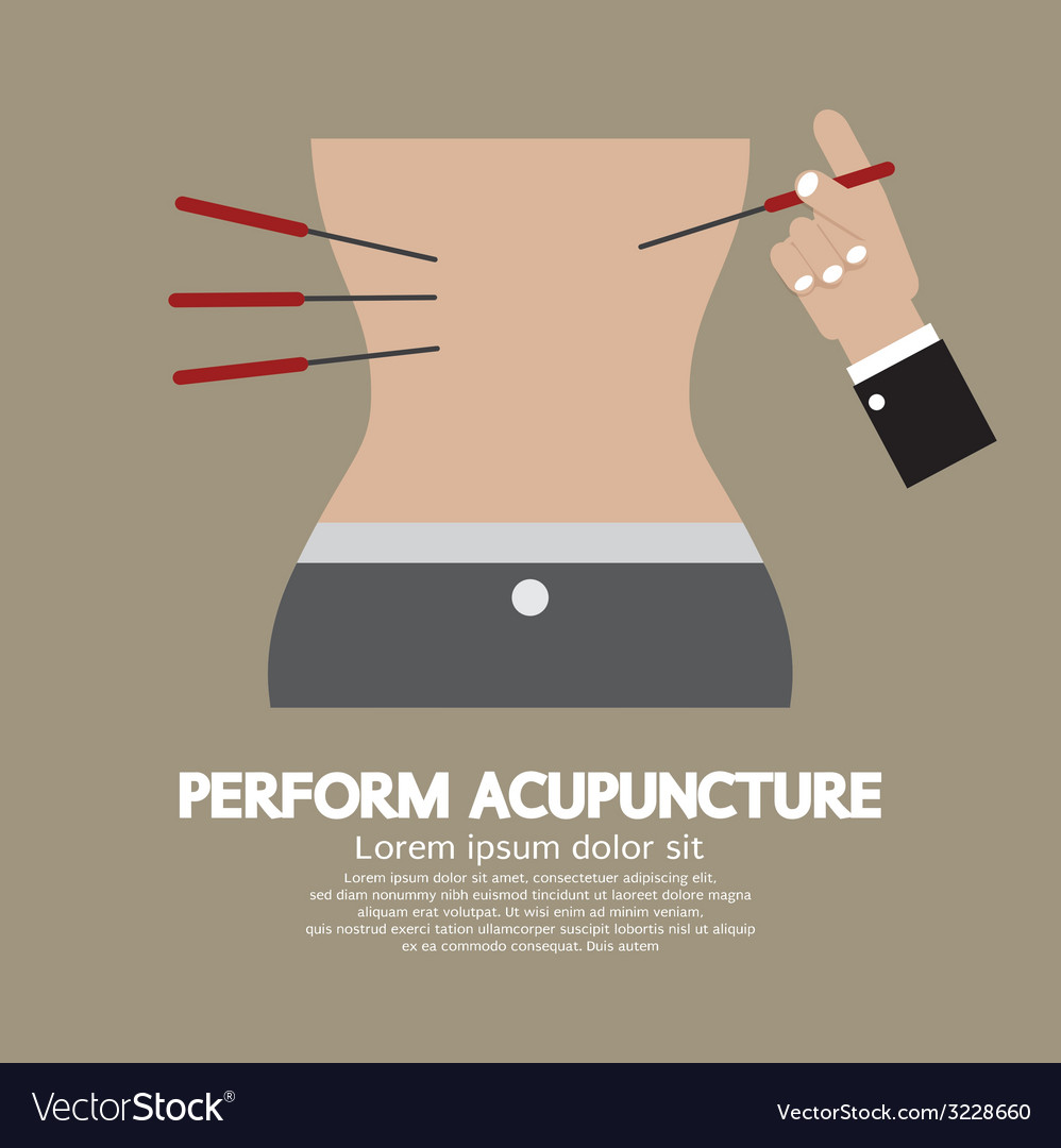 Perform acupuncture graphic vector | Price: 1 Credit (USD $1)