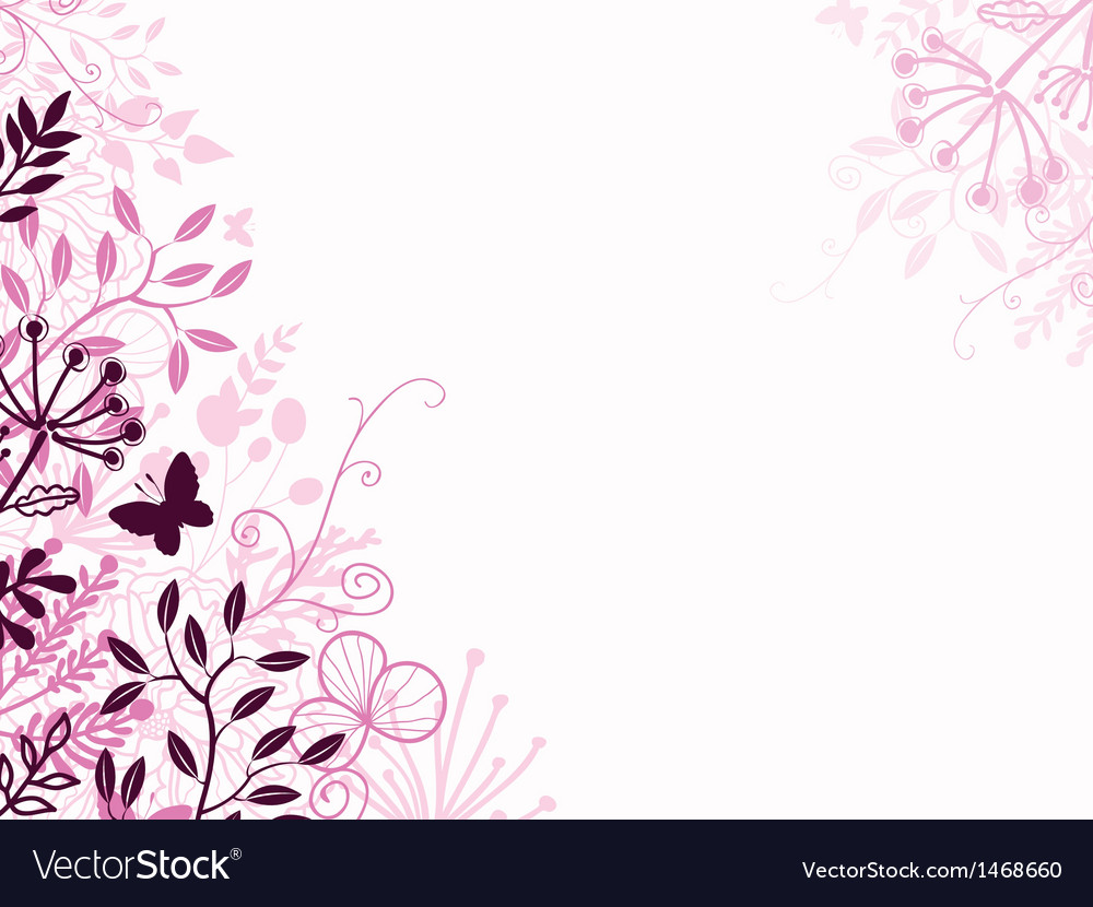 Pink and black floral background backdrop vector | Price: 1 Credit (USD $1)