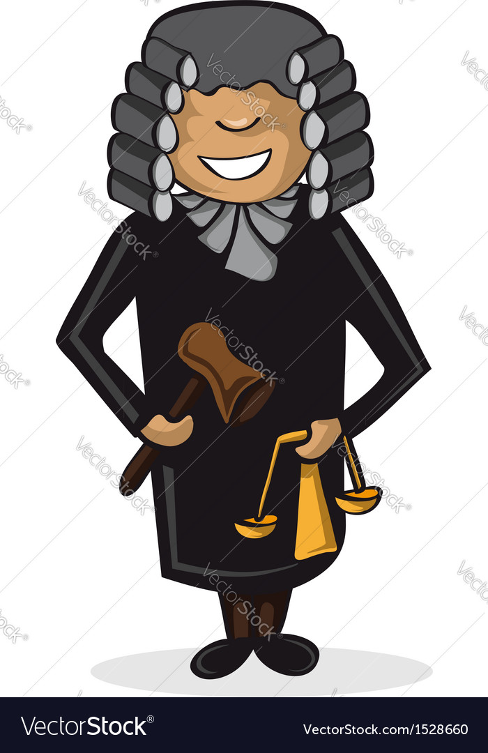 Profession judge man cartoon figure vector | Price: 1 Credit (USD $1)