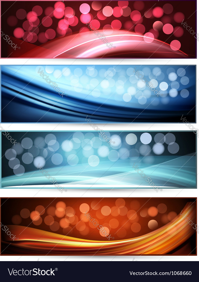 Set of abstract holiday colorful banners vector | Price: 1 Credit (USD $1)