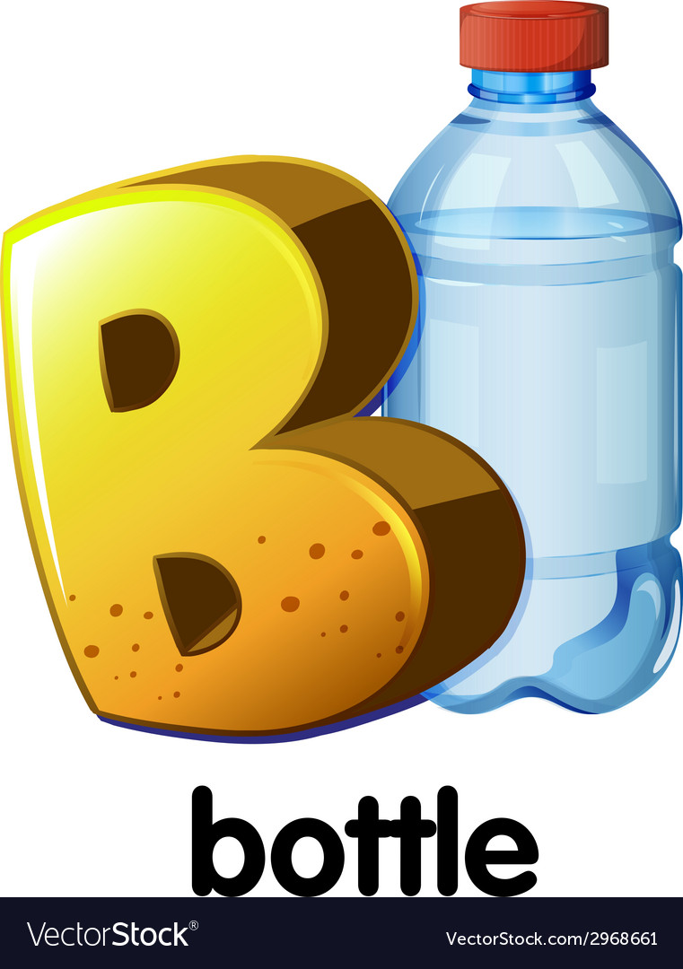 A letter b for bottle vector | Price: 1 Credit (USD $1)