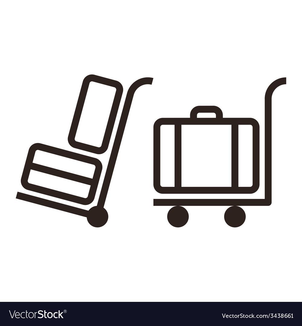Baggage carts vector | Price: 1 Credit (USD $1)