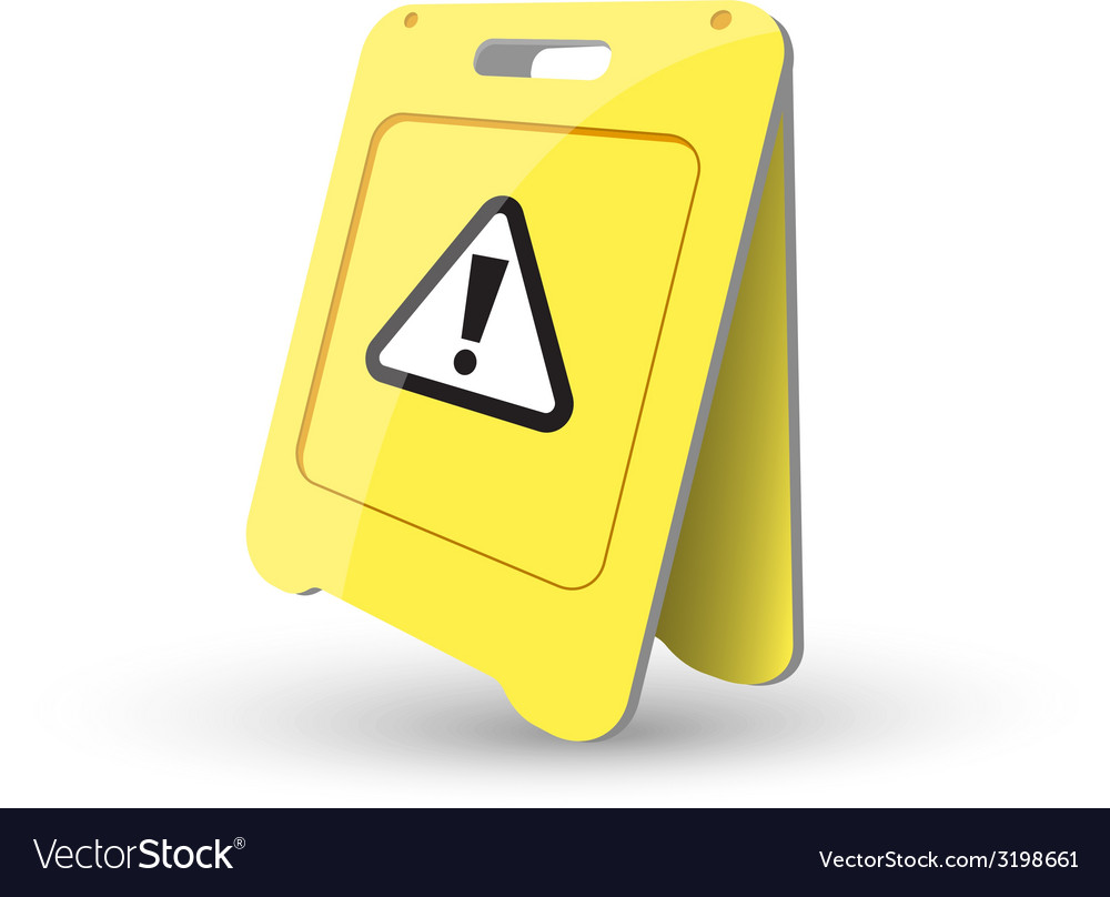 Caution sign showing warning vector | Price: 1 Credit (USD $1)