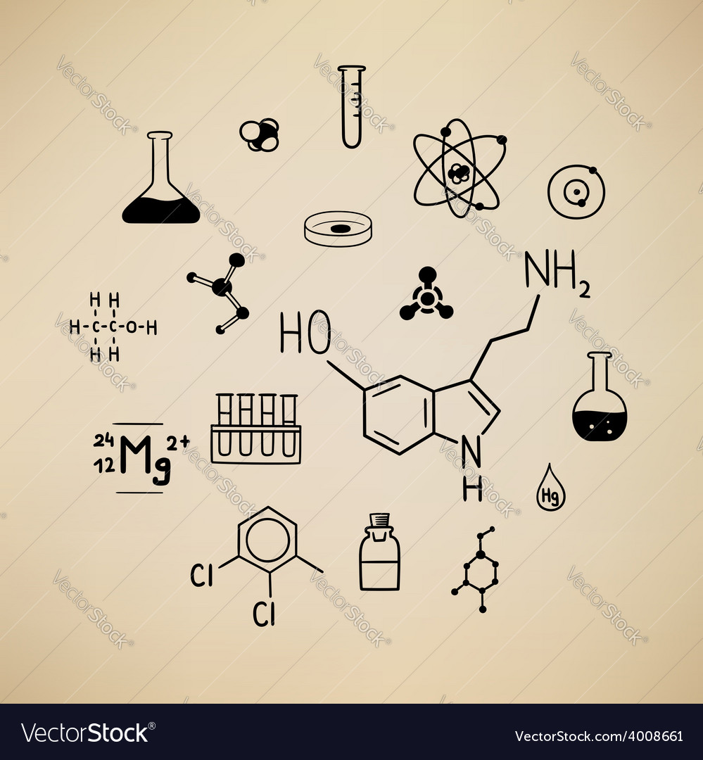 Chemical symbols vector | Price: 1 Credit (USD $1)