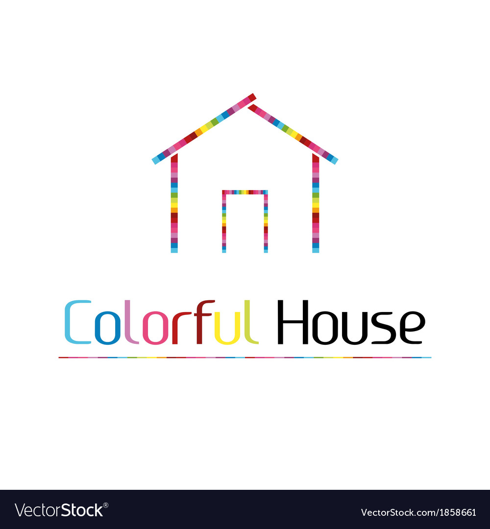 Colorful house vector | Price: 1 Credit (USD $1)