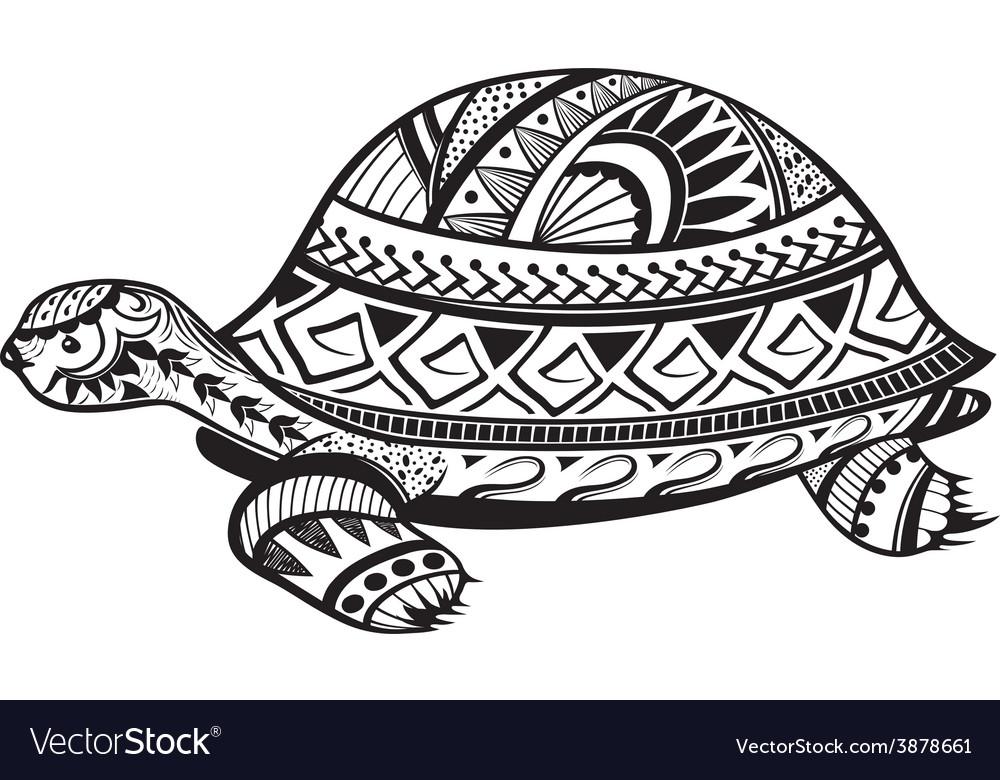 Ethnic ornamented tortoise vector | Price: 1 Credit (USD $1)