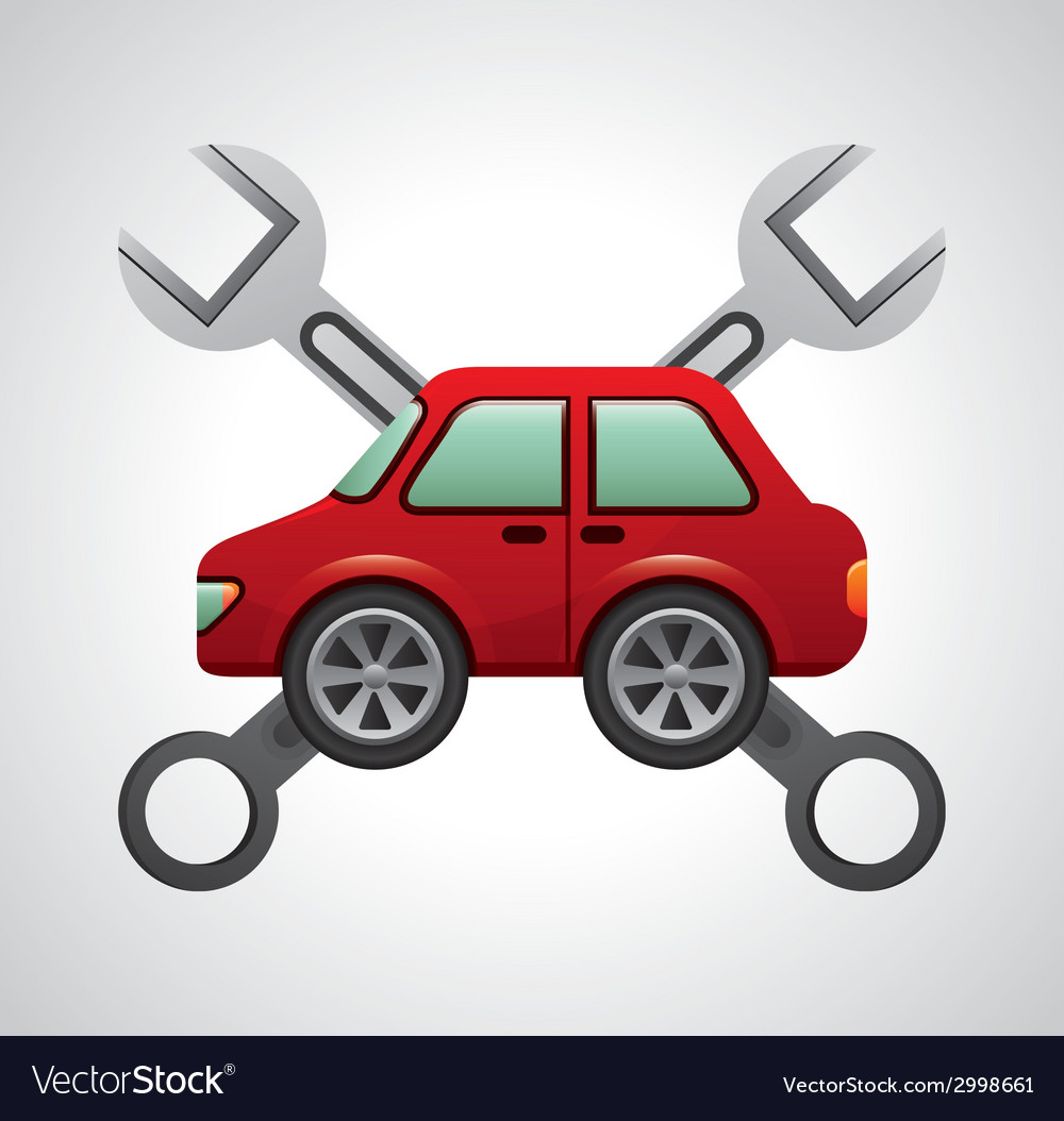 Repair car design vector | Price: 1 Credit (USD $1)