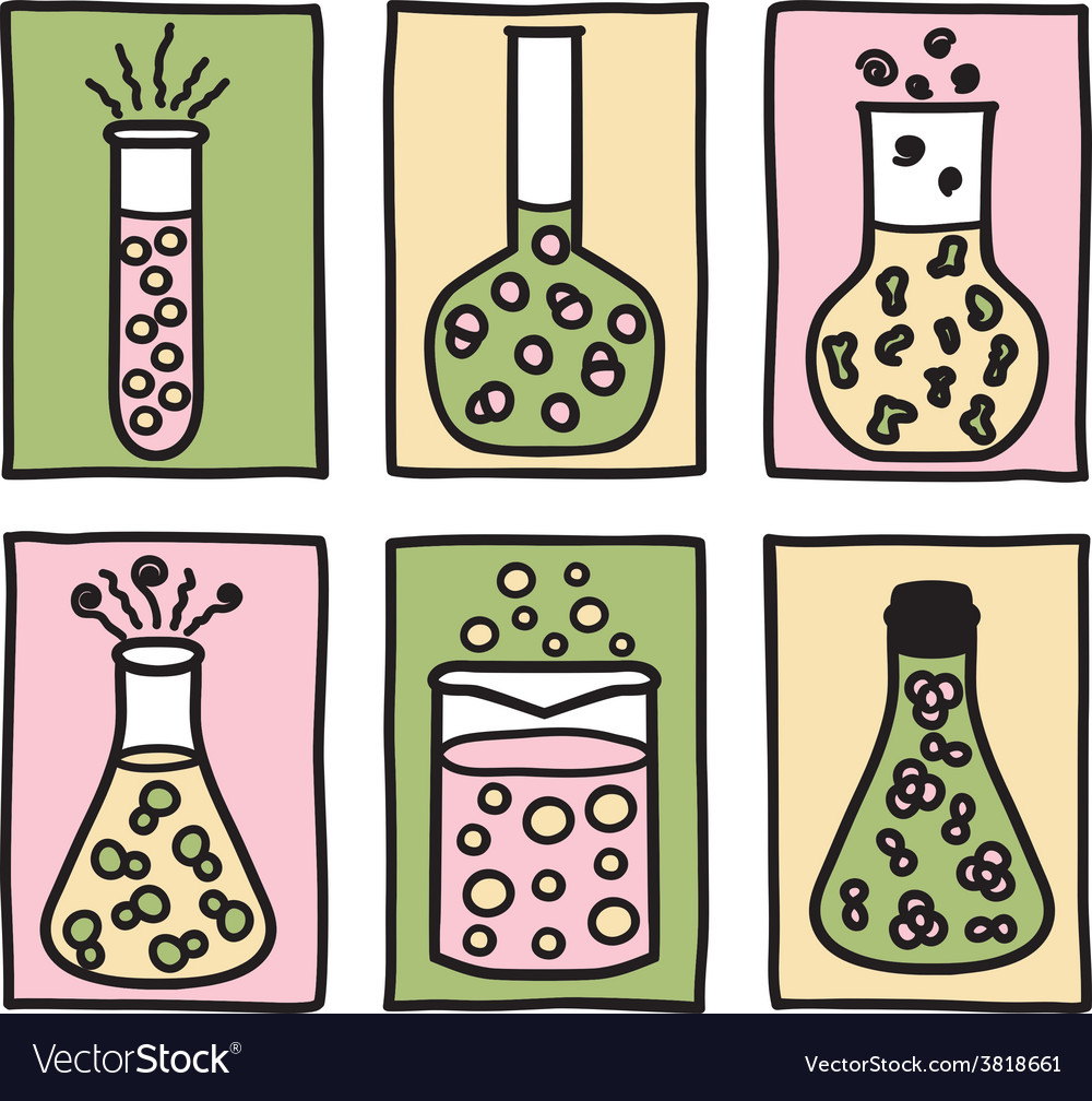 Set of chemical test tubes vector | Price: 1 Credit (USD $1)