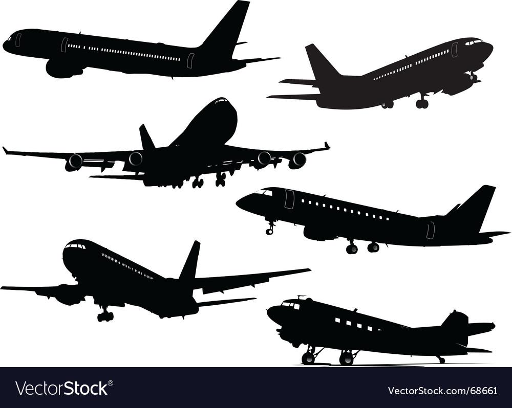 Six planes vector | Price: 1 Credit (USD $1)