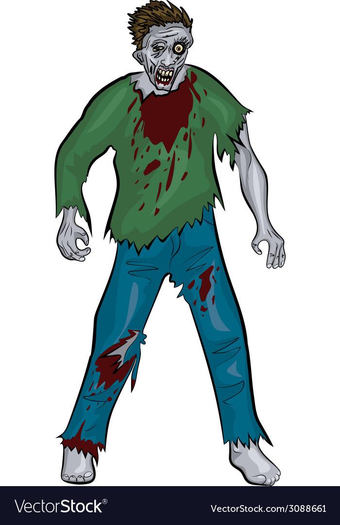 Standing zombie vector | Price: 1 Credit (USD $1)