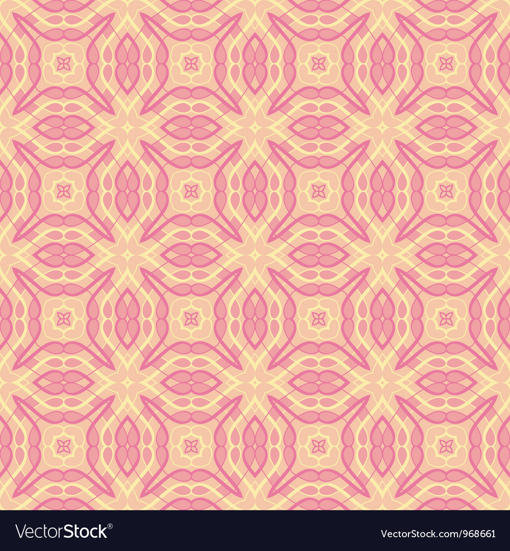 Vintage wallpaper pattern seamless background vector | Price: 1 Credit (USD $1)